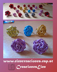 Anillos rosas y amapolas (eiencreaciones) Tags: anillos rosas amapolas delicas aluminio facetadas miyuki preciosaornela handmade hechoamano