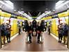 Déjà vu (Frontispiece) Tags: kissingcouple observers oldercouple metro jaume 1 barcelona catalonia spain