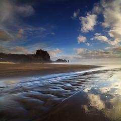 Piha Beach (angus clyne) Tags: piha black wind wave new zealand lion rock vertorama