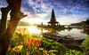 Sunrise is A Magical Moment (Bali Freelance Photographer) Tags: bedugul sunrise myudistira canon landscape freelance lake beratan buyan boat tourist