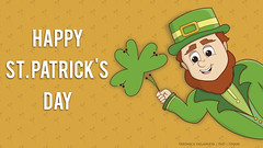 St. Patrick's Day for tablet wallpaper (Veronica Newville Mendietta) Tags: illustration diseño design il mobile stpatricksday patricksday ireland saintpatricksday irlanda elf leprechaum shamrock shamrocks green enap unam wallpaper póster gente march17