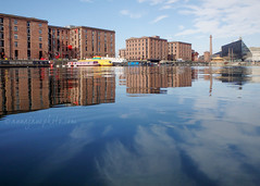 Salthouse Dock (.annajane) Tags: liverpool dock water reflection salthousedock merseyside albertdock warehouse pumphouse clouds uk england