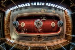 Kronleuchter (Batram) Tags: urbex hotel ballroom ballsaal stairs circular wendeltreppe hdr lost place fürstenhof eisenach