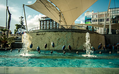 Antalya fountain #37 (joshmonk) Tags: street city blue urban water fountain birds turkey outdoors spring cool nikon asia day bright display may sunny wideangle tokina antalya shade ultrawide f28 1116 2013 atxpro 1116mm dxii d7000