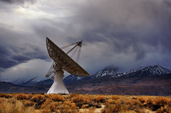 Owens Valley Radio Observatory. (Diana Goldin - www.dianagoldinphoto.com) Tags: california mountains cloudy science observatory astronomy radar radiotelescope universityofcalifornia