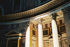 pantheon (Andrew Ridley) Tags: travel italy sun sunlight rome color colour roma film church analog 35mm spring ancient europe italia cathedral kodak roman pantheon may beam column analogue yashica yashicaelectro35 yashicaelectro35gx 2013 kodakektar100