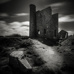 Tin Mine (MartynHall ) Tags: england sky white house motion black west sepia dark square tin big mine exposure cornwall 10 south engine stop filter crop ten copper lon density stopper cornish neutral