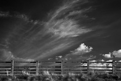 heavenly strategy (Ray Byrne) Tags: sky blackandwhite bw fence monotone northumberland raybyrne byrneoutcouk webnorthcouk