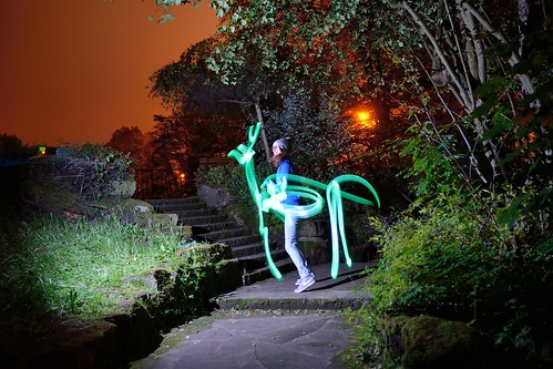 Light painting: horse