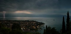 Days of thunder above Lake Garda (Bn) Tags: lighting light summer italy lake holiday mountains alps rain weather clouds dark spectacular point gre