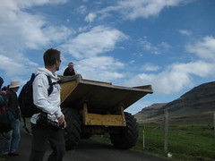 Tourists and heavy machinery (Jan Egil Kristiansen) Tags: christian faroeislands hgni sooc img7645 svnoy fo24