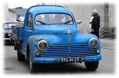 Two-O-Three Blues (Jean-Luc Lopoldi) Tags: old car vintage cutout rusty bretagne voiture bleu peugeot rouill