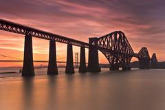 Forth Bridge Sunset 20 July 2013 (Grant_R) Tags: longexposure sunset scotland edinburgh forthbridge southqueensferry forthroadbridge forthbridges forthrailbridge grantr 10stopper