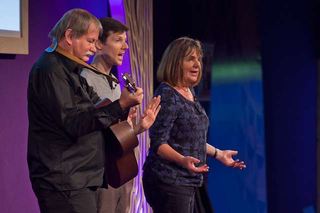 Julia Donaldson and crew