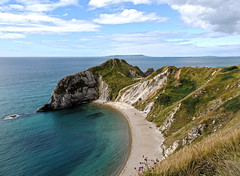 Lulworth Coves (Durdle Door/Man Of War) (diedintragedy) Tags: uk sea england beach water portland coast cove pebbles cliffs dorset fossils lulworth