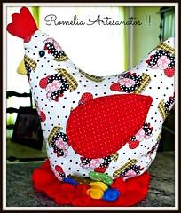 Galinha Peso de Porta ! (romelia.artesanatos) Tags: de galinha porta patchwork mo segura peso tecido feito