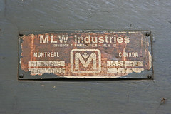 DL536B builders plate (Youth With) Tags: tunisia bombardier mlw sncft