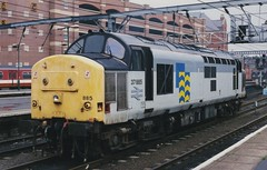 37885 at Leeds. 2/10/94 (Nick Wilcock) Tags: leeds railtour pathfinder class37 trainloadpetroleum 37885 paragonparadox