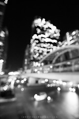Chong Nonsi railway station 02 (iam555man) Tags: city bridge light blur building station night train landscape thailand evening blackwhite twilight cityscape bokeh bangkok railway nightlight achitecture bts citylight