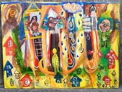 Mole In The Neighborhood (mondoexpressionism) Tags: painting rawart outsiderart expressionism artbrut naiveart visionaryart weirdart