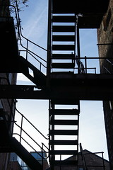 Exit (notFlunky) Tags: uk england building silhouette architecture stairs liverpool fire escape silhouettes warehouse sillohuette merseyside