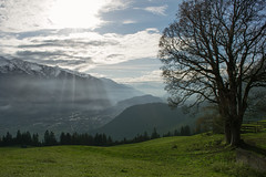 Fading Clouds (Gikon) Tags: sky sun mountains alps tree green grass clouds austria landscapes nikon day cloudy rays 1855mm fading tyrol gikon d3100