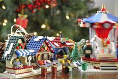 Lego Winter Market (Karl Westworth) Tags: christmas winter decorations lego market minifigs minifigures