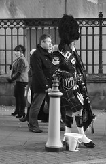 Fag Break (Idreamofpies) Tags: street new uk england people white black liverpool canon soldier chinatown kilt military year guard chinese celebrations gb resting fag merseyside bearskin yearofthehorse idreamofpiesphotography