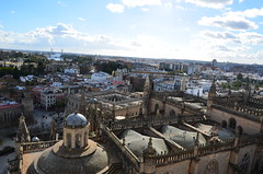 Seville from the top of the Giralda (1) (Prof. Mortel) Tags: spain minaret seville andalucia giralda almohad