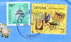 Litauen, Feb (postcardlady1) Tags: stamps briefmarken