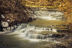 A Nice Surprise II (uglybassist) Tags: park winter canon landscape rebel waterfall sigma glen split bit 32 hdr waverly toning 18250 t2i