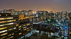 Majestic Ekbatan (Mohsen-K) Tags: night colorful cityscape iran perspective citylights nightlife tehran hdr miladtower ekbatan