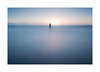 Silent (A-D-Jones) Tags: blue sea sun seascape beach statue set clouds liverpool long exposure waves alone place flat smooth calm anthony another solitary crosby merseyside sefton gormleys blundellsands