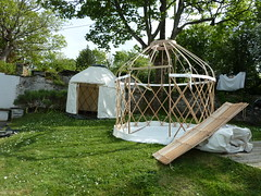 "Setting up some mini yurts • <a style=""font-size:0.8em;"" href=""http://www.flickr.com/photos/61957374@N08/14279175342/"" target=""_blank"">View on Flickr</a>"