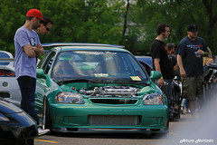 Looking (Arturo Hurtado) Tags: race honda teal low turbo civic lowered boti automotion battleoftheimports