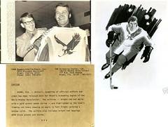 Miami Screaming Eagles uniforms (BranMan32) Tags: hockey nhl sweater uniform winnipeg edmonton florida quebec jets parent prototype jersey panthers 1970s flyers wha blazers howe nordiques oilers aeros