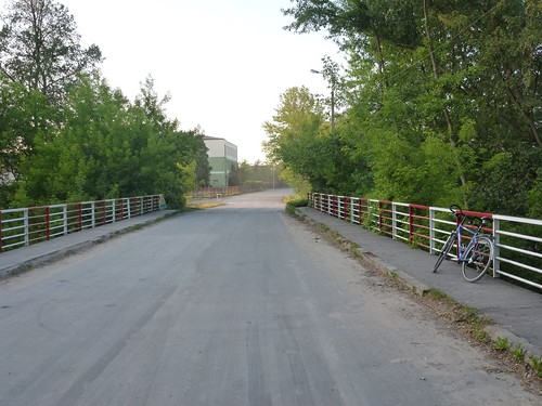 Widok z mostu w Gliniance na północ