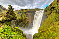 Skogafoss waterfall Iceland (600tom) Tags: iceland waterfall skogafoss beautifull water surging dramatic green high holidays travelling spectacular nikon magical vivid