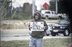(MegHan Seidel) Tags: 35mm film nikon f3 homeless austin texas winter holidays poor usa vet god bless you all candid