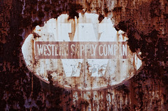western supply co (fallsroad) Tags: tulsaoklahoma westernsupplycompany abandoned decay industrial building sign rust rusted rusty crusty door