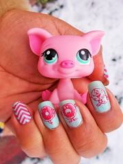 Nail this week (flores272) Tags: littlestpetshop nailstamping nailart toy toys lps outdoor