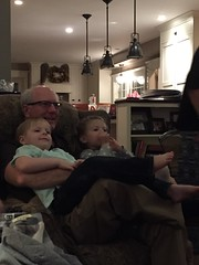 """Paul and Inde Watch a Movie with Grandpa Miller • <a style=""""font-size:0.8em;"""" href=""""http://www.flickr.com/photos/109120354@N07/32957694622/"""" target=""""_blank"""">View on Flickr</a>"""