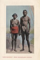 'Sweethearts' - West Australian Natives - 1911 (Aussie~mobs) Tags: aborigine woman man native indigenous australia westernaustralia 1911 postcard couple vintage aussiemobs