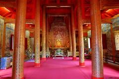 Wat Phra Singh (_JLC_) Tags: tailandia thailand asia sudesteasiático chiangmai arquitectura architecture temple templo wat watphrasingh interior buddhism budismo buda buddha columnas canon canon6d eos 6d 2470f4