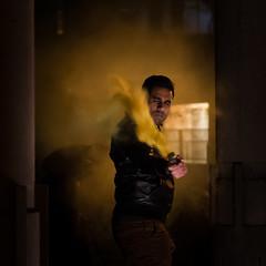 In the smoke 1 (Claymore55) Tags: lightpainters london meetup nikond750 steelwoolspinninglightpainting