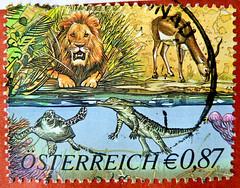 great stamp Austria 87c Tiergarten Schönbrunn, Wien (Vienna Zoo, Jardin zoologique de Schönbrunn, Zoológico de Schönbrunn) stamp timbre Autriche selo sello francobollo Austria postzegel Oostenrijk طوابع النمسا frimærker østrig markica Austrija टिकटों ऑस्ट (stampolina, thx for sending stamps! :)) Tags: stamps stamp 切手 briefmarke briefmarken スタンプ postzegel zegel zegels марки टिकटों แสตมป์ znaczki 우표 frimærker frimärken frimerker 邮票 طوابع bollo francobollo francobolli bolli postes timbres sello sellos selo selos razítka γραμματόσημα bélyegek markica antspaudai маркица pulları tem perangko austria österreich autriche oostenrijk ausztria rakousko austrija mail 火车 timbru pulu schönbrunn tiergartenschönbrunn zoo tierpark tiergarten vienna wien tiere animals lion löwe schildkröte antilope qualle antelope turtle