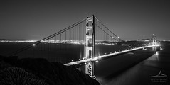 Golden Gate B&W (alessio.braglia) Tags: canon eos 5d 5dmkiii photo photography foto fotografia alessiobraglia california usa united states america sanfrancisco goldengate black white blackwhite blackandwhite monocrome sea mare water bridge ponte architecture light shadows