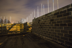 light nights (georgehuthart) Tags: nightshooter nightshooters nightshots canonimage canonshot canonlens canonpicture construction building bricklayer scaffold norbridgeacademy eos5d