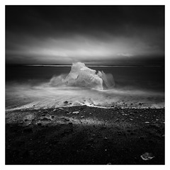 Turbulence (vulture labs) Tags: iceland workshop long exposure bw photography