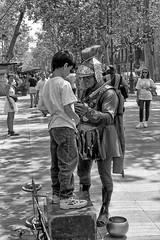 058-Barcelona-La Rambla (marek&anna) Tags: spain barcelona lasramblas mime monochrome